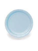 "Baby Blue 9"" Paper Plates (PK 8)"