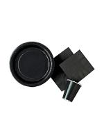 BLACK 9 inch Paper PLATES