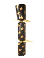 "12"" Black with Gold Star Cracker - 25"
