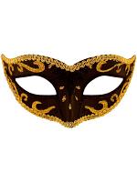 Black Eye Mask with gold trim