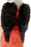 Black Feathered Angel Wings
