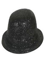 Glitter Bowler Hat Black
