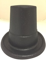 Glitter Top Hat - Black