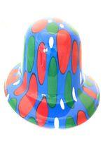 Blue Circle Bowler Hat