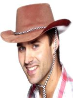 Brown Cowboy Flock Hat