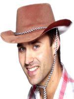 Brown Cowboy Flock Hat
