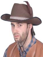 Cowboy Brown Felt Hat Dallas Style