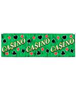 Casino Metallic Fringe Banner