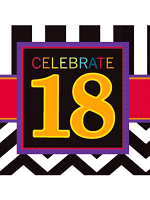 Happy Birthday Chevron Design 18 Napkin