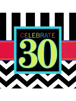Happy Birthday Chevron Design 30 Napkin