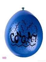 Balloons CONGRATULATIONS Latex  9""