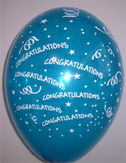 Balloons Congratulations Ass Colours 12""