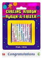 Curling Ribbon For Balloons Congratulations Small Roll