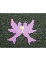 Decoration Paper Love Doves Lilac (1)