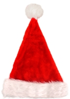 Deluxe Santa Hat with Fur Trim