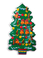3D Christmas Tree Decoration 100cm