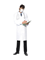 Doctor's White Coat And Mask 12345