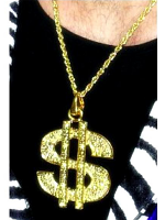 Dollar sign Medallion -Bling