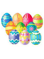 Mini Easter Egg Cutout Decoration