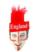 England St George Headband with Attached Hair