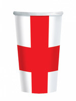 St. George's/England Paper Cups (6 cups)