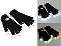 Flashing LED Black Gloves