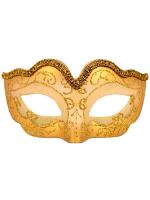Glitter Eye Mask with metallic trim Gold
