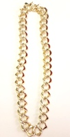 Gold Heavy Chain Bling Necklace