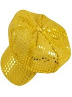 Disco Sequin Hat Gold