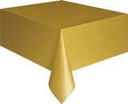 Gold Plastic Tablecloth - 137cm x 274cm