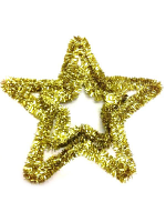 Gold Tinsel Star