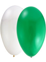 "Balloons Standard 12"" Green And White"