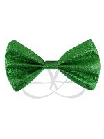 Green Glitter Bow Tie