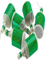 Holographic Green Party Poppers - 20