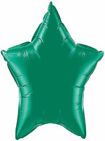 Foil Balloon Star Solid Metallic Green