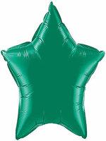 Foil Balloon Star Solid Metallic Green
