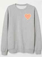 Custom Chenille Heart Sweatshirt/Hoodie