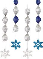 Hanging Snowflake Foil Decoration