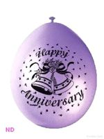 "Balloons 'HAPPY ANNIVERSARY' 9"" Latex (10)"