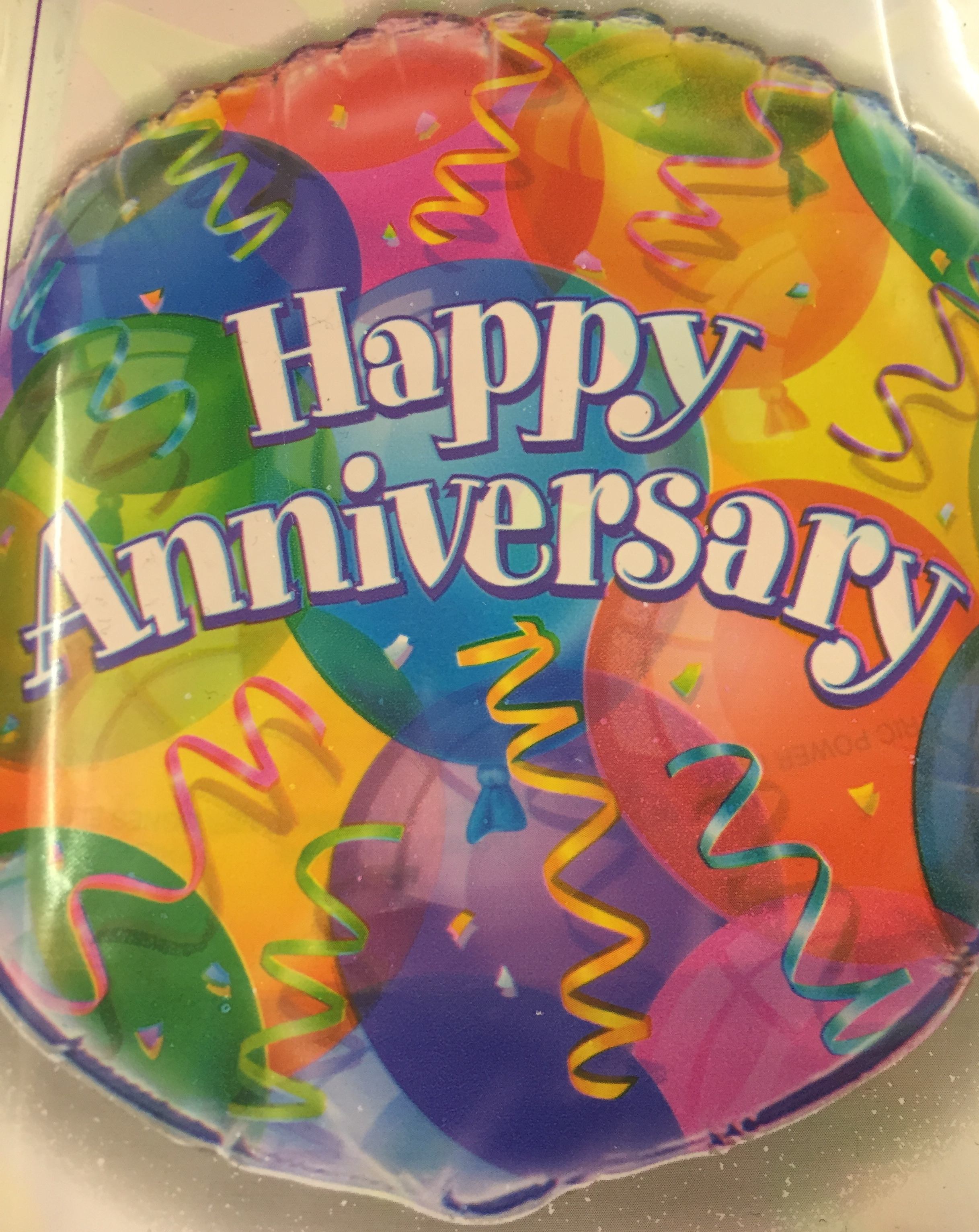 Happy Anniversary 'brilliant balloons' Foil Balloon