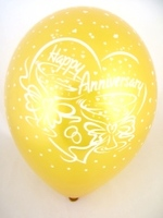"Balloons 'HAPPY ANNIVERSARY' Gold 12"" Bag Of 25"