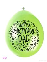 "Balloons HAPPY BIRTHDAY DAD 9"" Latex Balloons (10)"