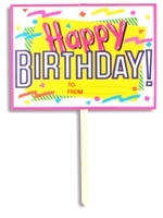 Garden Sign Happy Birthday