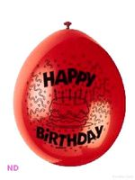 "Balloons HAPPY BIRTHDAY  9"" Latex Balloons (10)"