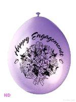 "Balloons 'HAPPY ENGAGEMENT' 9"" Latex (10)"