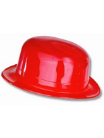Bowler Plastic Hat Red