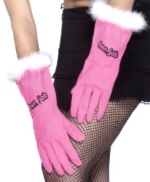 Hen Job Gloves with Fur Trim