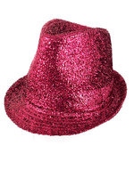 Hot Pink Lurex Gangster Hat