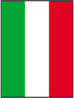 Italian Flag 5ft x 3ft with eyelets for hanging