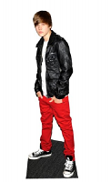 Justin Beiber Leather Jacket Lifesize Cardboard Cutout